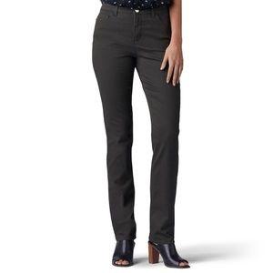 Lee High Waist Straight Slimming Olive Jeans 16
